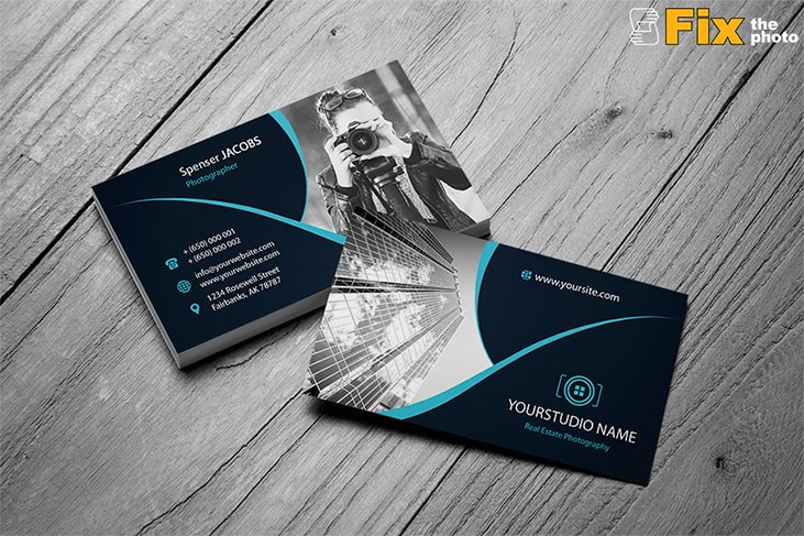 40 best free business card psd templates 2018 photoshop business card templates by fixthephoto business cards min wajeb Choice Image
