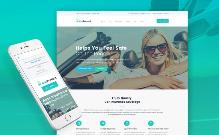 Car Protect - Auto Insurance WordPress Theme