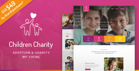 Children Charity - Nonprofit & NGO WordPress Theme