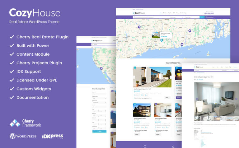 CozyHouse - Real Estate Premium WordPress Theme