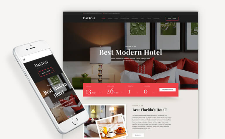 Dalton - Modern Hotel & Resort WordPress Theme