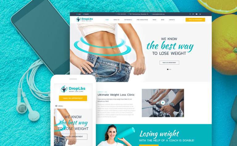 DropLbs - Weight Loss Clinic Responsive WordPress Theme