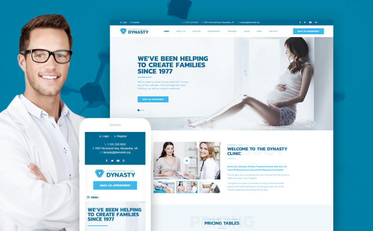 Dynasty - Reproduction Clinic Responsive WordPress Theme