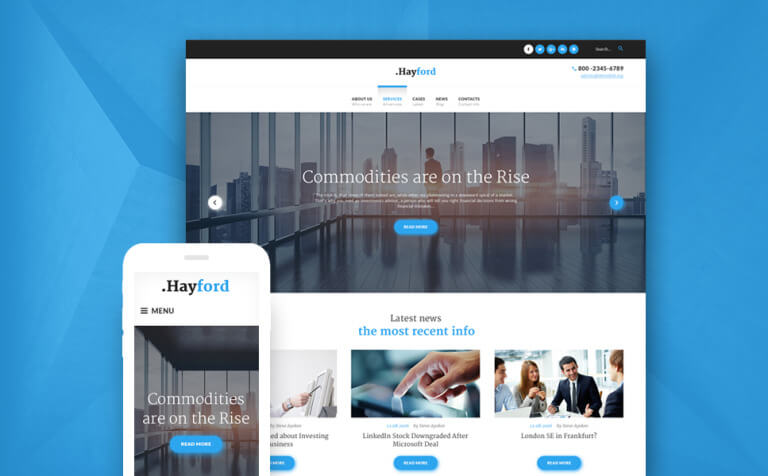 Hayford - Investment Consulting Services Responsive WordPress Them