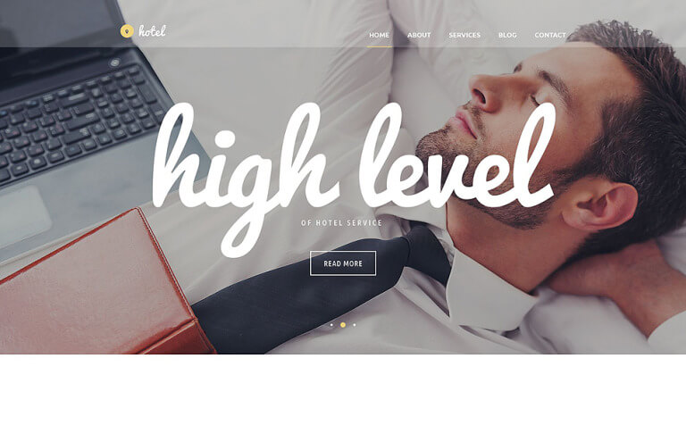 Hotel Business WordPress Theme