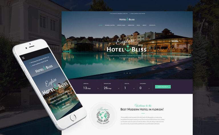 HotelBliss – Spa & Resort Hotel WordPress Theme