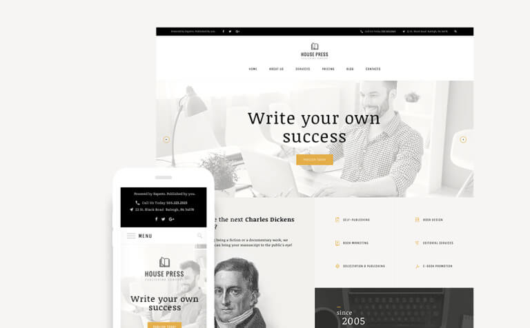 House Press – Publishing Company WordPress Theme