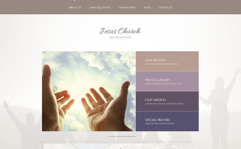 Jesus Church WordPress Theme