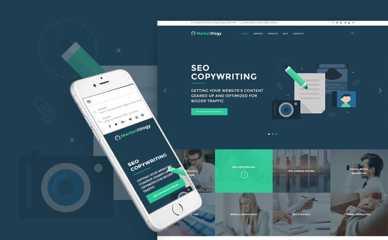 MarketOlogy - SEO and Marketing Agency Responsive WordPress Theme