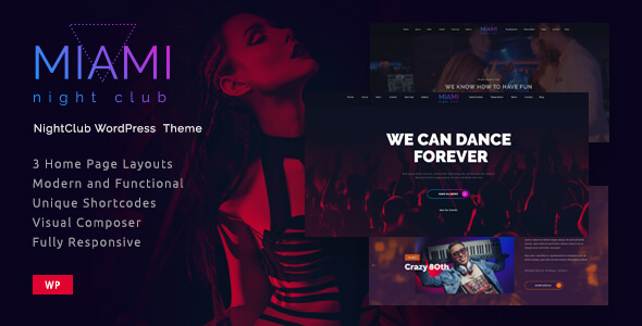 Miami- Night Club Responsive WordPress Theme