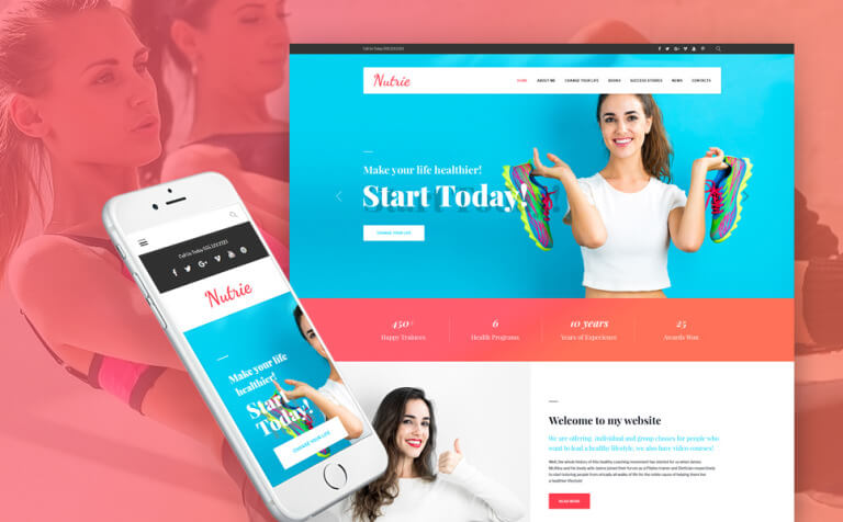 Nutrie - Health Coach WordPress Theme
