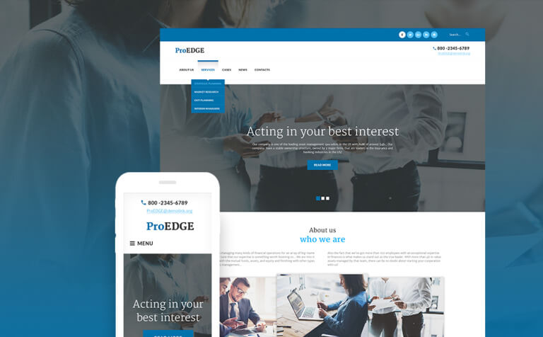 ProEDGE WordPress Theme