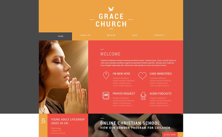 Religious Organization WordPress Theme