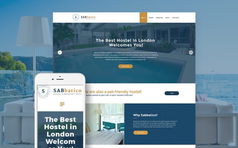 SabBatico - Hostel & Bed & Breakfast Hotel WordPress Theme