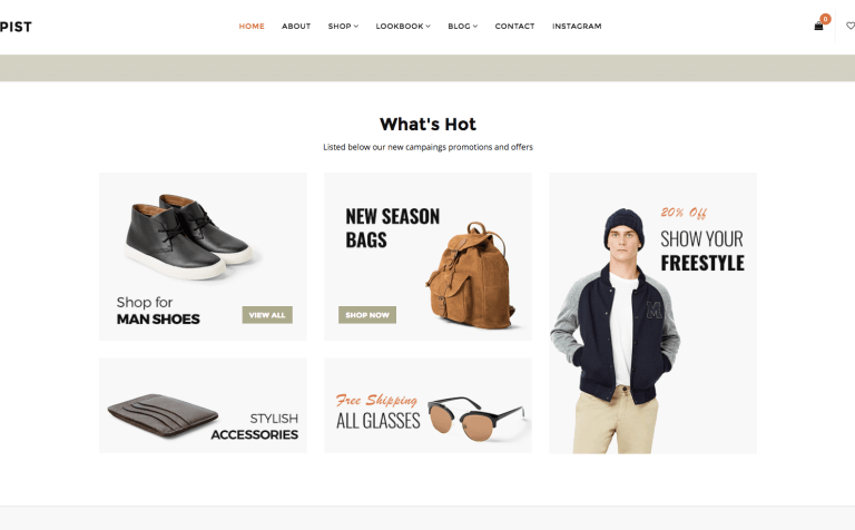 Shopist - Responsive Stylish eCommerce WordPress Theme