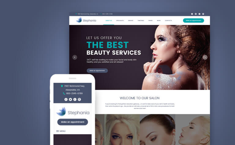Stephania - Beauty Salon & Skin Care WordPress Theme