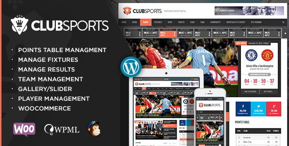 Club Sports - Events and Sports News Theme