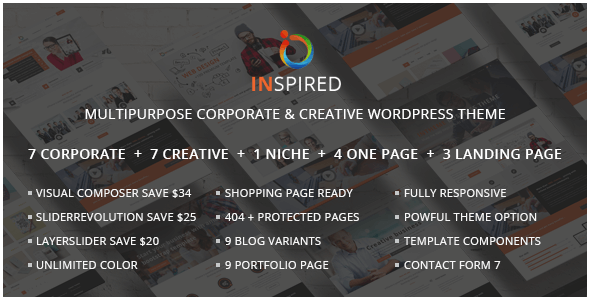 Inspired - Multipurpose Corporate and Creative Bootstrap WordPress Theme