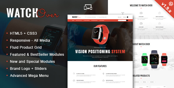 Watch Over - Single Product Magento Theme