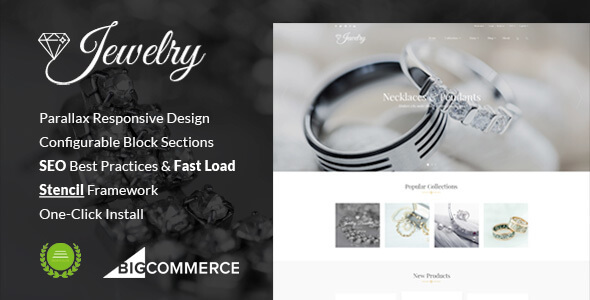 Jewelry Responsive Parallax BigCommerce Theme - Stencil Framework