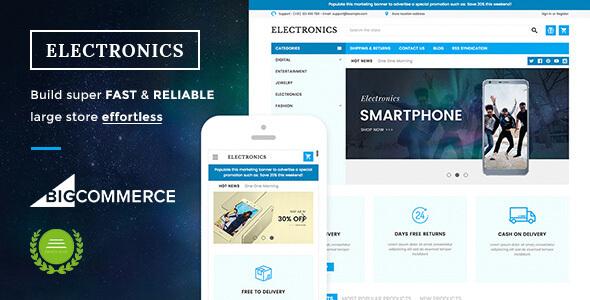 Electronics Supermarket Responsive BigCommerce Theme