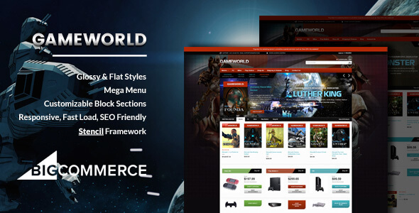 Gameworld - Game Store Responsive BigCommerce Theme - Stencil Framework