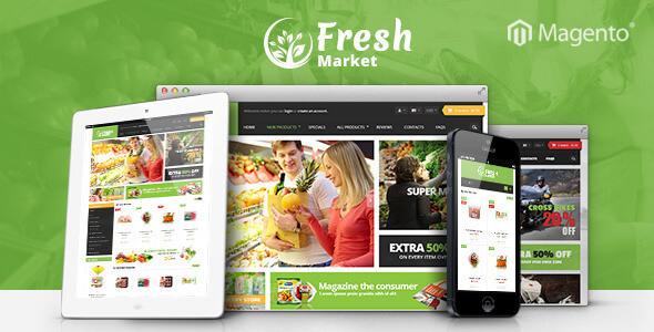 Ves Freshmarket Responsive Magento 2 & 1 Theme