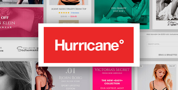 Hurricane - Fashion Magento 2 Theme