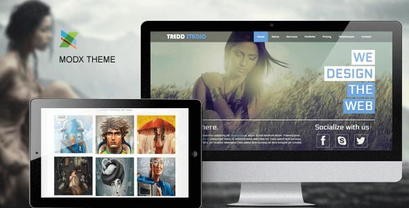 Tredd Studio - Responsive One Page MODX Theme