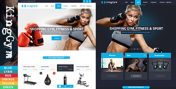 Kinggym - Fitness, Gym and Sport Magento theme