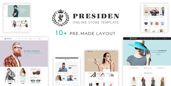 Presiden - Multistore Responsive Magento Theme