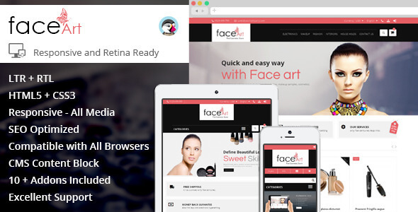 Face Art - Prestashop Responsive Theme