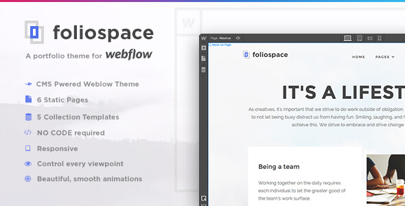Foliospace - Responsive Webflow Portfolio Template