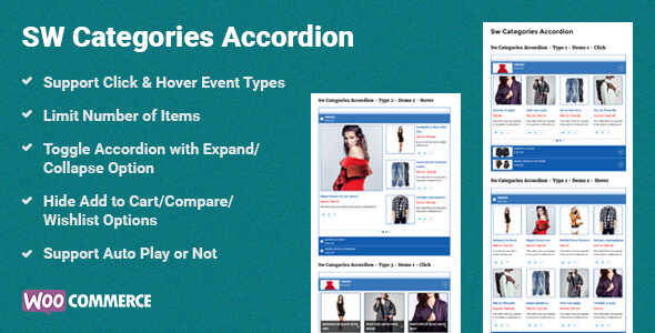 Categories Accordion WooCommercre WordPress Plugin