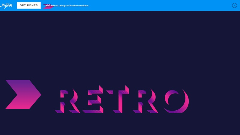 80s style text