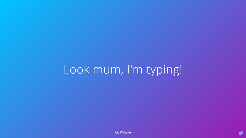 Auto Typing Text