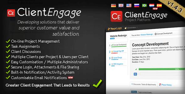 ClientEngage Project Platform - PHP Client Script
