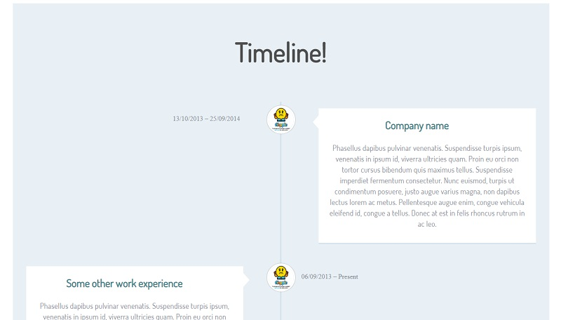 Coll CSS Timeline