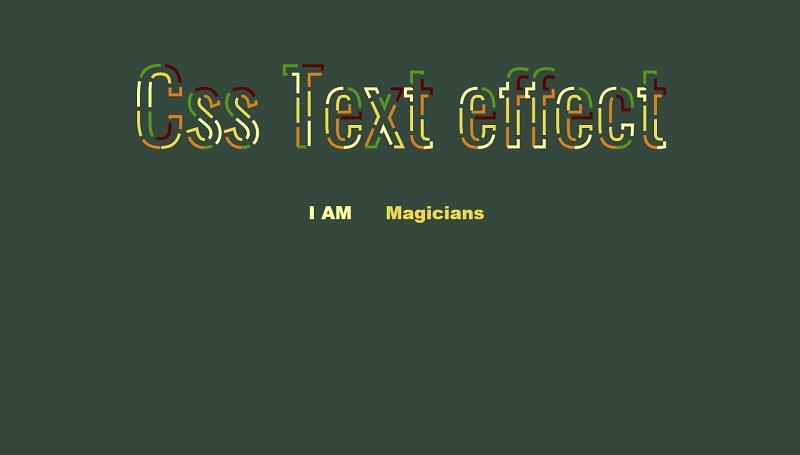 Css Text effect