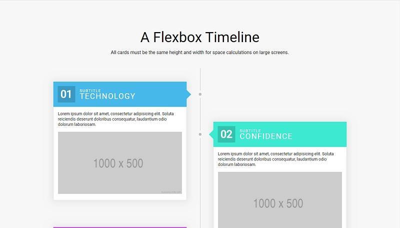 Flexbox Timeline Layout
