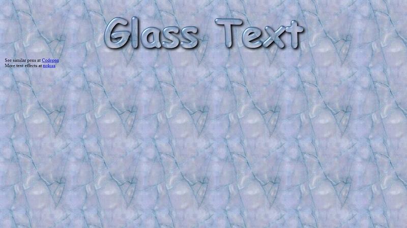 Glass Text