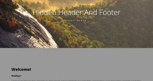 CSS Headers And Footers