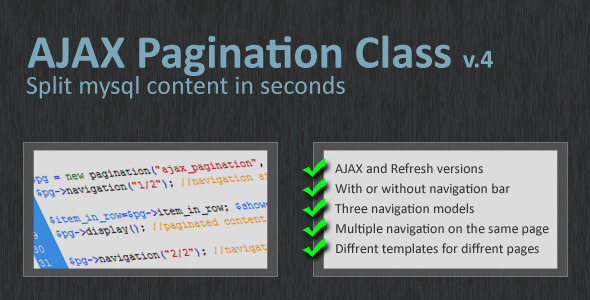 Pagination Class 3.0