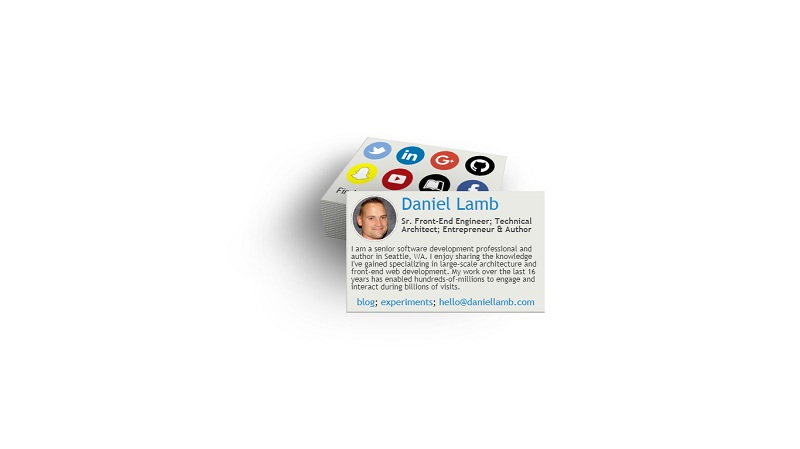 Interactive Virtual Business Card