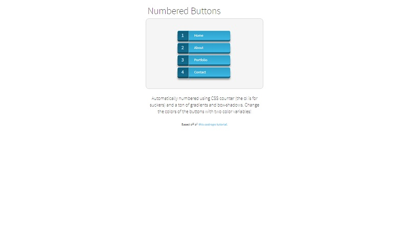 Numbered Buttons