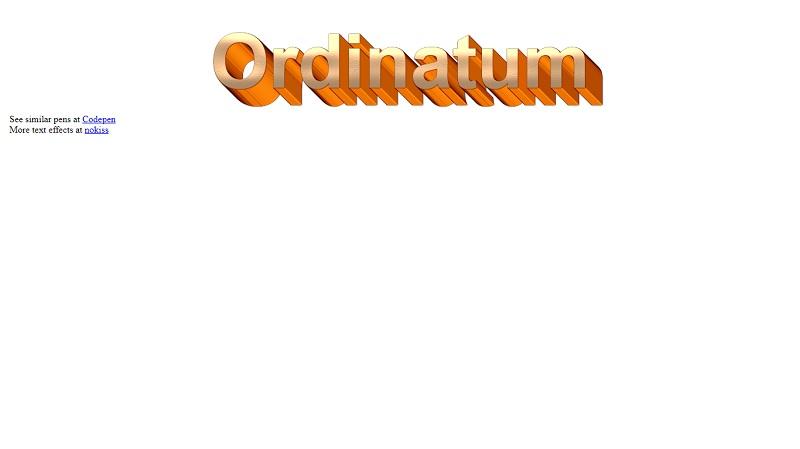 Ordinatum