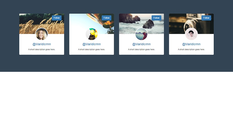 (Profile Box Hover Effect)Tumblr cards redesign concept