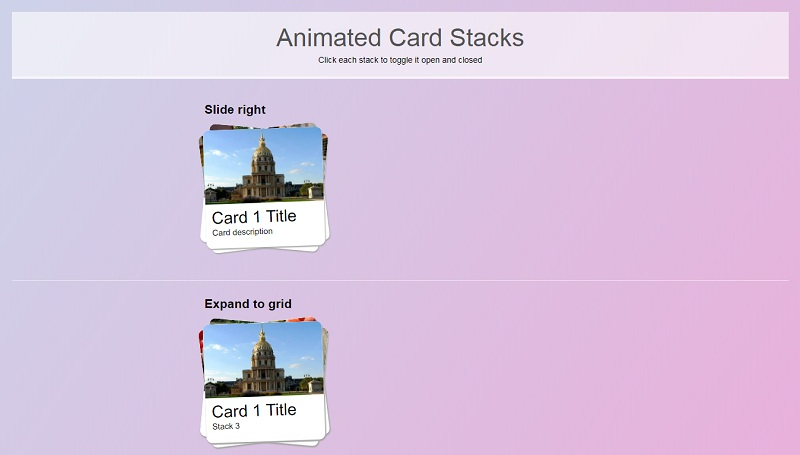 Stack Cards
