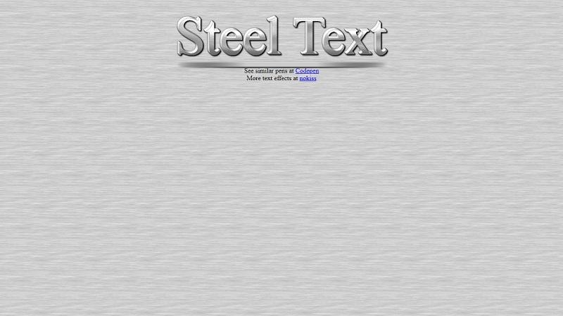 Steel Text
