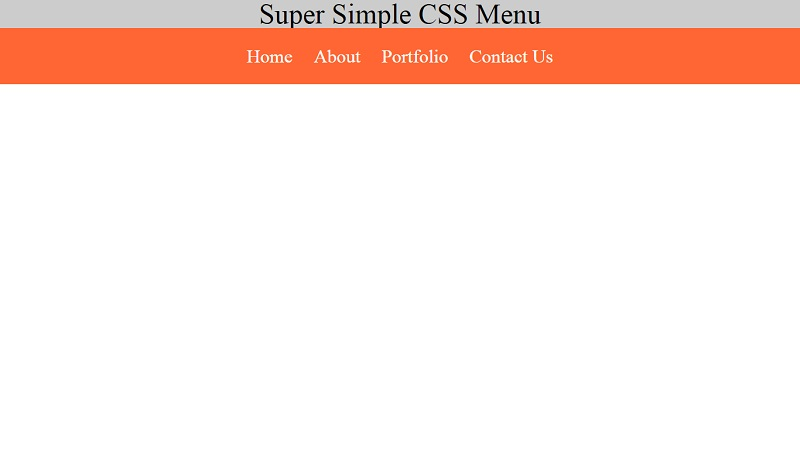 Super Simple CSS Menu